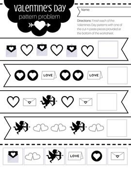 Pre-K / JK / K Valentines Day Math Printable Worksheet Bundle