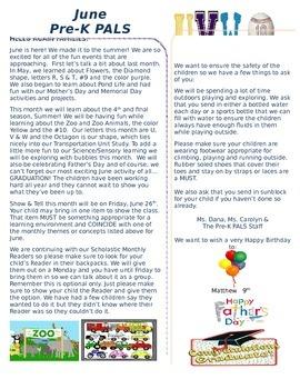 Pre-K June Newsletter