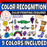 Pre-K-K Color Recognition Activity Sheets