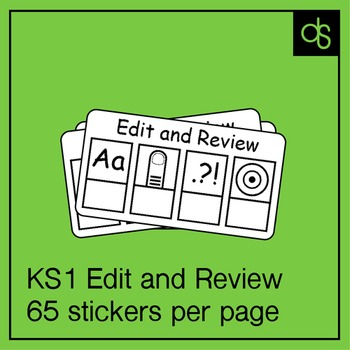 Pre-K / K Early Writing Edit and Review Stickers 65/page