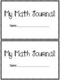 Pre-K - K Math Journal