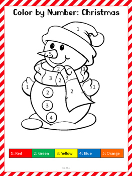 Pre-K/K Christmas Math Worksheets