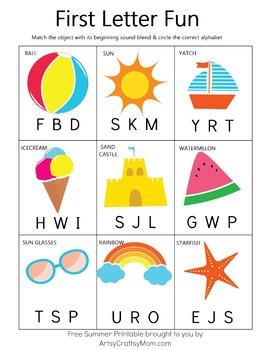 ☀ Pre-K / K Printable Summer Activity Pack