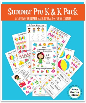 ☀ Pre-K / K Printable Summer Activity Pack