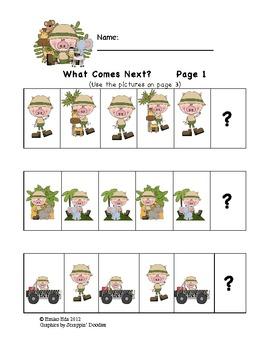 Pre-K & K Safari Fun Packet - 17 pages