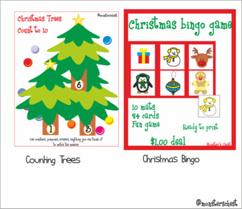 Pre K, K and Special Education Math Bundle. 10 hands-on resources. #hotwinter