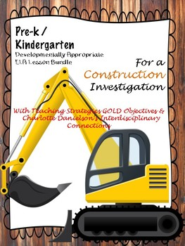 Pre-K/Kdg Construction Lesson Plans Aligned w/ Teaching Strategies GOLD
