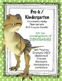 Pre-K/Kdg Dinosaur Lesson Plans Aligned with Teaching Stra
