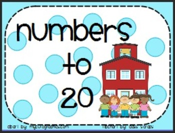 Pre-K, Kinder, First Back To School Making Numbers to 20, Math Centers