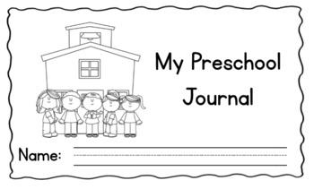 Pre-K Kinder Journal Cover