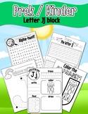 Pre K/Kinder Letter Jj worksheets