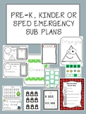 Pre-K Emergency Substitute Sub Plans Day 1 (No Prep)
