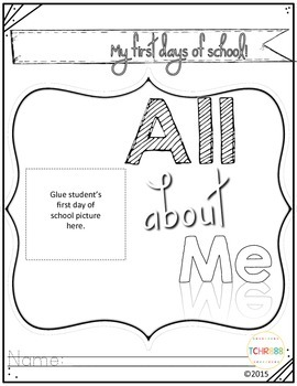 Pre-K & Kindergarten All About Me!