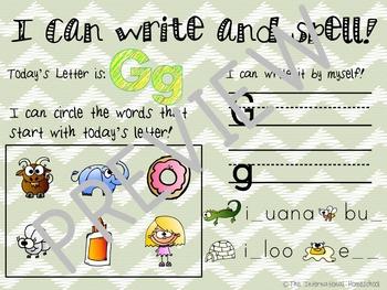 Pre-K/Kindergarten Alphabet Pack - Letter G