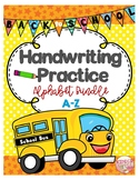 Back to School Alphabet Handwriting Practice (Directional Tracing)
