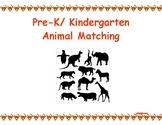 Pre-K/ Kindergarten Animal Matching