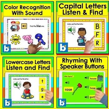 Boom Cards™ Pre K Kindergarten BUNDLE VALUE - Letters, Numbers, Rhyming