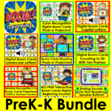Boom Cards Bundle for Pre K - Kindergarten - Letters, Numbers, Rhyming