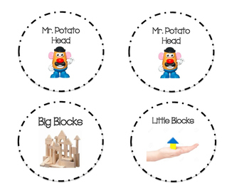 Pre-K/Kindergarten Center Labels