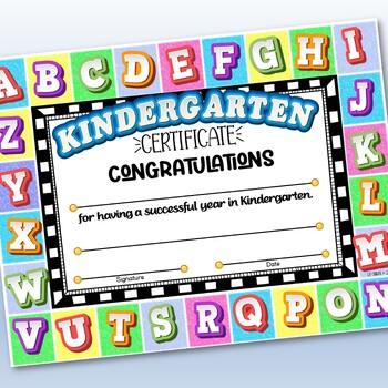 Pre-K & Kindergarten Certificates - ABC