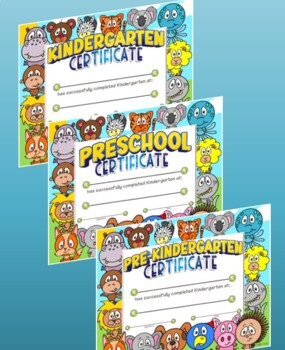 Pre-K & Kindergarten Certificates - ANIMALS