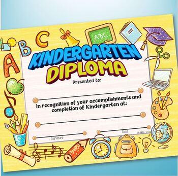 Pre-K & Kindergarten Certificates - SCHOOL