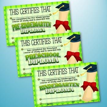Pre-K & Kindergarten Certificates and Medals Set – Fillable Set 4