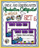 Pre-K & Kindergarten Certificates and Medals Set – Fillable Set 5