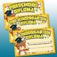 Pre-K & Kindergarten Graduation Certificates and Medals {Set 6}