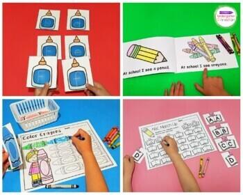 Back to School Activities and Centers for Pre-K/Kindergarten