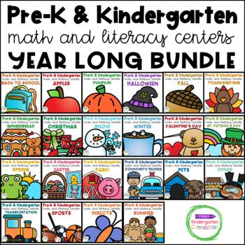 Pre-K / Kindergarten Math and Literacy Centers and Activit