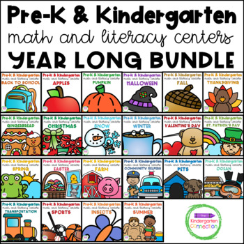 Pre-K / Kindergarten Math and Literacy Centers and Activities GROWING BUNDLE
