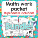 Pre-K Kindergarten Math bundle with 18 activities