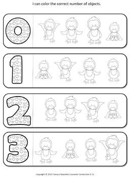 Pre-K, Kindergarten Math : working with 0-10 activities, No Prep Worksheets