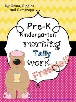 Pre-K Kindergarten Morning Tally Work