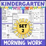 Kindergarten Morning Work Weeks 10-18 Letters, Numbers, Colors, Shapes