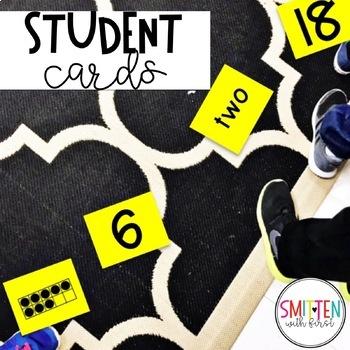 Pre-K, Kindergarten Number Sense Game Musical Numbers (with numbers 1-20)