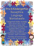 Pre-K/Kindergarten Receptive Language Work/Practice Sheets