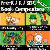 Pre-K, Kindergarten, SDC Book Companions for MARCH - Math, ELA, STEM