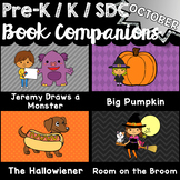 Pre-K, Kindergarten, SDC Book Companions for OCTOBER - Math, ELA, STEM