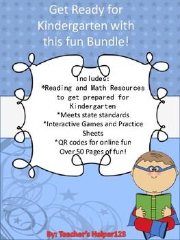Pre-K - Kindergarten Bundle Packet Math & Reading