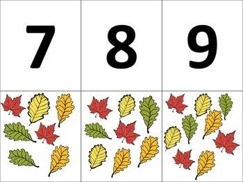 Pre K Math Centers- Leaf Math