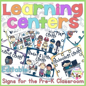 Pre-K Learning Center Signs