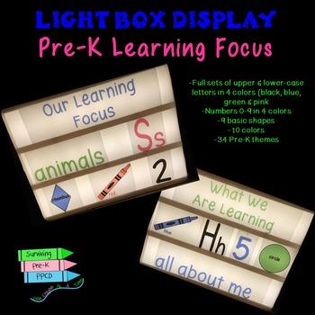 Pre-K Learning Focus Light Box Display