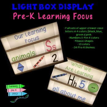 Pre-K Learning Focus Light Box Display
