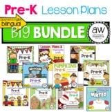 Pre-K Lesson Plan & Thematic Unit MEGA BUNDLE! - Bilingual