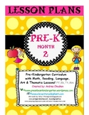 Pre-K Lesson Plans Bundle MONTH 2 by GBK!!!! New!!!