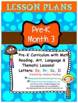 Pre-K Lesson Plans MONTH 3 Bundle by GBK!!!! New!!!