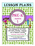 Pre-K Lesson Plans Bundle MONTH 1 by GBK!!! New!!!