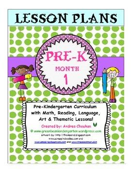 Pre-K Lesson Plans Bundle MONTH 1 by GBK!!! New!!!